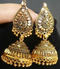antique gold jhumka earrings south indian antique gold plated jhumka earrings bead drop
