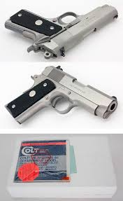 colt 1911 officers model mk iv series 80 stainless steel 45 acp