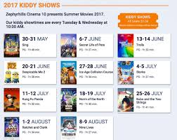 2017 free or 1 summer movies start this week