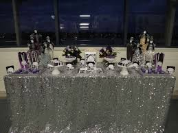 silver party favors purple black white and silver birthday party ideas photo 2 of