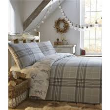 Tesco Bedding Duvet Buy Fusion Tartan Stag Grey Duvet Cover Set King From Our King