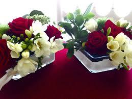 Decoration Florale Mariage Rouge Mariage Autour Du Rouge Et Blanc Vert Autrement