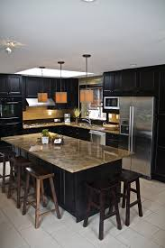kitchen layouts l shaped with island 52 dark kitchens with dark wood and black kitchen cabinets