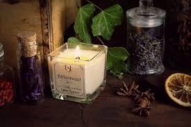 candele scintillanti e se candele di soia profumate