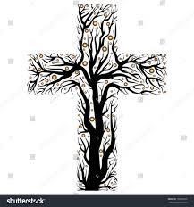black christian cross tree shape on stock vector 2018 102809678