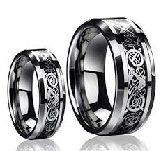 celtic wedding rings his s 8mm 6mm tungsten carbide celtic knot