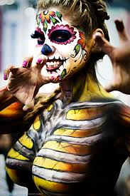 whoa to much hahaha talk about a halloween costume sugar skulls