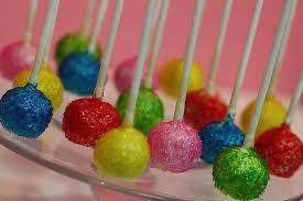 ediable glitter cake pops with edible glitter picture of sweet memories bakery