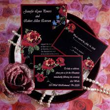 Red And Black Wedding Invitations Red And Black Wedding Reception