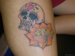 flowers on thigh 33 beautiful thigh tattoo