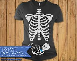 Skeleton Maternity Halloween Costumes Skeleton Maternity Etsy