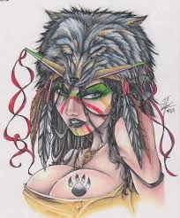 tattoos images native american indian wolf head tattoo design