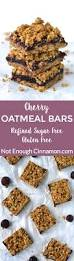 Oatmeal Bars With Chocolate Topping Cherry Oatmeal Bars Refined Sugar Free And Gluten Free Not