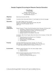 elementary resume exles collection of solutions free sle resume for elementary school