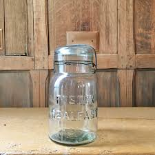 Kitchen Canisters And Jars Vintage Mason Jar Foster Sealfast Glass Jar Vintage Kitchen