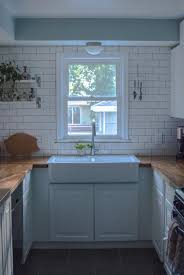 white subway tile ikea butcher block counters domsjo sink white subway tile ikea butcher block counters domsjo sink