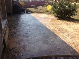 stained concrete patio backyard u2014 all home design ideas