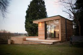 natural modern exterior design of the eco friendly homes