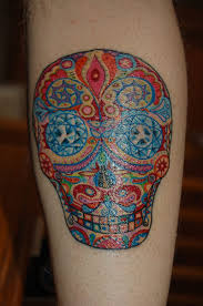 day of the dead skull colorful tattoos book 65 000