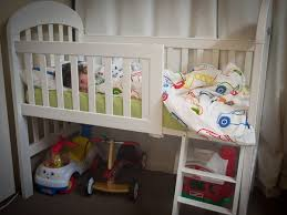 When To Turn Crib Into Toddler Bed I Turned My S Crib Into A Toddler Loft Bed With Only An Allen
