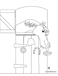 10 images of horse and barn coloring page farm barn coloring