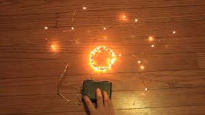 Starry String Lights Amber Lights On Copper Wire by Kohree Fairy String Lights Copper Wire Lights Youtube