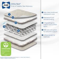 Sealy Ortho Rest 150 Coil Crib Mattress Sealy Baby Ortho Rest Crib And Toddler Mattress Innerspring