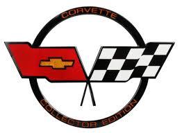 c3 corvette flags c3 corvette 1982 collector edition crossed flags nose emblem