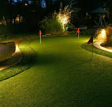 backyard putting green lighting putting green with accent lighting outdoor contracting