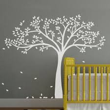online get cheap white baby nursery aliexpress com alibaba group large white tree wall sticker inspiration baby nursery room removable vinyl art decor diy wall decals