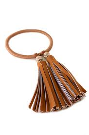 leather hair accessories faux leather tassel hair tie bracelet hair accessories