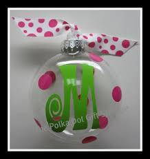 monogrammed ornaments