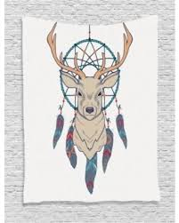 slash prices on deer decor wall hanging tapestry roe deer with