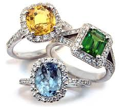 gem stone rings images Colored gems and diamond rings wedding promise diamond jpg