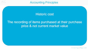 historic cost accounting concept a z of business terminology