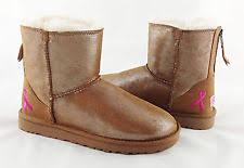 s ugg australia mini zip boots ugg australia shiny mini zip chestnut breast cancer