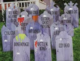 cheap grave markers tombstones yard decorating ideas