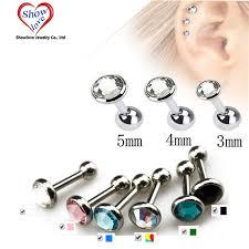 ear piercing earrings aliexpress buy showlove gem ear piercing lip helix