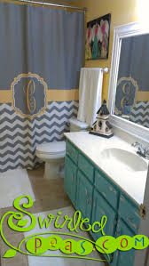 Gray And Yellow Chevron Shower Curtain by 85 Best Swirled Peas Shower Curtains Images On Pinterest Shower