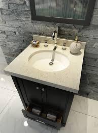 Bathroom Vanity With Top Combo by Ariel Adams 25 Inch Black Single Sink Vanity Combo