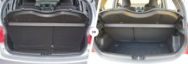 nissan micra luggage space hyundai i10 vs kia picanto comparison carwow