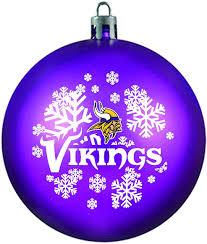 purple shatterproof minnesota vikings ornament by topperscot
