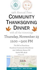 19th annual community free thanksgiving dinner by tuxedos tennis