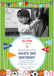 sports mvp ball printable birthday party invitation dimple