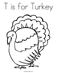t is for turkey coloring page twisty noodle