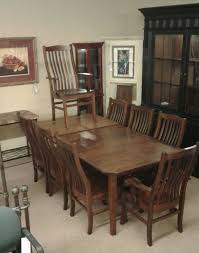 amish dining table 8 chairs delmarva furniture consignment