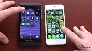 iphone 5 vs blackberry z10 youtube