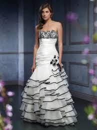 fabulous black and white wedding dresses