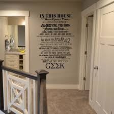 in this house we do geek vinyl wall lettering sticker decal