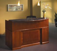 Counter Reception Desk Sorrento Reception Desk With Marble Counter Top Mayline